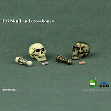 HOT FIGURE 1/6 COOMODEL simulation skull (eye movement) series old color copper