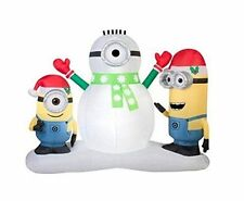 CHRISTMAS SANTA 7 FT MINIONS DESPICABLE ME  DISNEY   AIRBLOWN INFLATABLE YARD