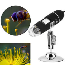 8 LED 1000X USB Digital Microscope Endoscope Magnifier Video Camera Stand MC