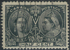TMM* 1897 Canada Stamp Scott #50 used/no hinge/medium cancel F/VF Jubilee issue
