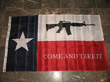 3x5 ft NRA AR-15 Texas M4 Machine Gun Come and Take it Flag 3'x5' House Banner