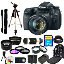Canon EOS 70D DSLR Camera with 18-135mm STM f/3.5-5.6 Lens MEGA BUNDLE!!