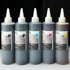 5x250ml Refill ink for Epson T774 T664 WorkForce EcoTank ET 4500 ET 4550