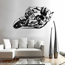 MARCO SIMONCELLI 58  WALL ART 04 motorcycle racer decal graphic adhesive UNIQUE