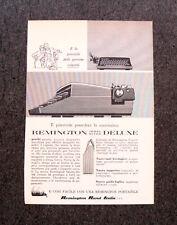 M150- Advertising Pubblicità -1960- REMINGTON DELUXE MACCHINA PER SCRIVERE