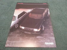 MINT 1984 Model SAAB 900 TURBO 8 VALVE - UK 12 PAGE BROCHURE