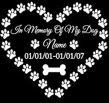 In Memory of My Dog vinyl decal sticker for car/truck laptop window custom