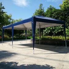 10'X 20'EZ POP UP Gazebo Wedding Party Tent Folding Canopy Carry Bag Blue