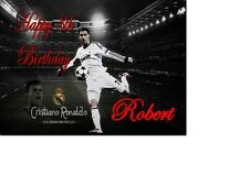 Cristiano Ronaldo Real Madrid Portugal Birthday Card Personalised A5