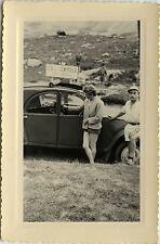 PHOTO ANCIENNE - VINTAGE SNAPSHOT - VOITURE 2CV CITROËN COL DE LA CAYOLLE - CAR