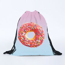 Girls Boys Drawstring Swim Sportswear Shoe Dance Bags Schoolbags Backpack Gym P