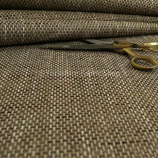 New Heavy Woven Texture Hopsack Fabric Upholstery Curtain Material Caramel Beige
