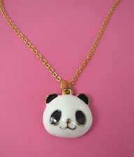 Cute Happy Panda Enamel Pendant Gold Plated Necklace Brand New in Gift Bag