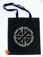 CRASS Fight War Not Wars punk retro cotton shopper Tote Bag