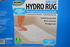 "Ideaworks WHITE NON-SLIP HYDRO ""BATH"" RUG (29-1/2"" X 17-1/4"") (NEW) (#S6235)"