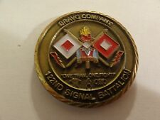 "CHALLENGE COIN BRAVO COMPANY BANDITS 122ND SIGNAL BATTALION ""ONE TEAM ONE FIGHT"""