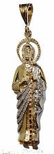 San Judas Tadeo 3 Tone Pendant 18K Gold Plated With  24 Chain - St Jude Necklace