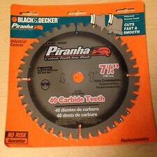"Black & Decker 77-757 7 1/4"" x  40 Teeth 5/8"" &Dia Arbor Fine CROSSCUTING  Blade"