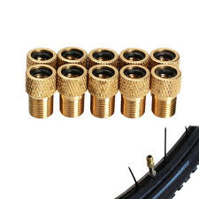 10x Presta to Schrader Valve Adapter Converter Road Bike Cycle Pump GOLD Useful