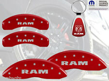 2011-2014 Ram 1500 Logo Red Brake Caliper Covers Front Rear INSTOCK + Keychain