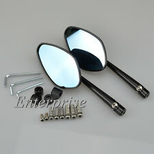 Black 8mm 10mm Motorcycle CNC Rearview Mirrors Universal High Grade Aluminum