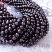 6mm Garnet Gemstone Beads AAA Grade Strand of 65 beads
