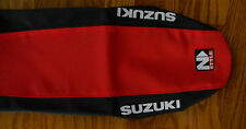 NSTYLE SUZUKI GRIPPER SEAT COVER RM125 RM250 (01-08)  RED BLACK seatcover