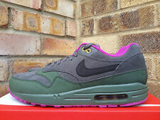 Nike Air Max 1 LTR Pewter UK 8 trainers 9 42.5 Black Green 654466 008