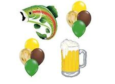 FISHING & BEER  Birthday Party Balloons Decoration Supplies Retirement Trout