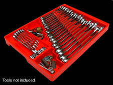 Wrench Organizer Tool Box Holder Craftsman Toolbox Rack Storage Tray Chest Red