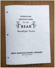 Bear Headlamp Tester Operating Instructions / Headlight Adjuster