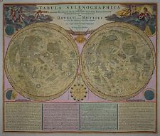 Tabula Selenographica -Homann / Doppelmayr 1730 -Rare Mondkarte -Map of the moon