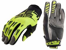 GUANTI MOTO ENDURO CROSS ACERBIS MX2 2017 NERO GIALLO  FLUO GLOVES TG S