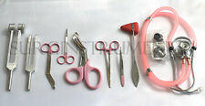 9 Piece PINK Medical Kit EMT Nursing Surgical EMS Student Paramedic HOLIDAY GIFT