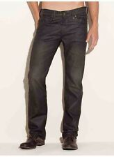 Guess Lincoln Slim Straight Jeans In Solar Wash Mocha Coated Denim Size 29