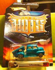 Hotwheels Hot Wheels Die Cast Car Blue Ultra Hots 1950s 50s Chevy Real Tires