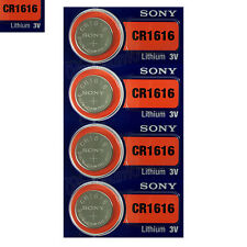 4 x SONY Lithium CR1616 batteries 3V Coin Cell DL1616 BR1616 KRC Watch EXP:2025