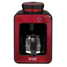 Russell Hobbs RH-G6686 Built-in Grinder Coffee Maker Permanent Filter Red NEW