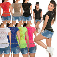 Sexy clubbing women Lace Back Top Ladies Shirt Girls Party Blouse Size 6 8 10 12