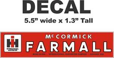 1 Red International Harvester IH Tractor Farmall McCormick Vinyl Decal