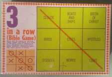 Vintage 3 in a Row Bible Game Broadman 1968 Church/Youth Group/Sunday School