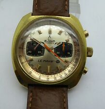 Vintage LE JOUR LE MANS RALLY RACE VALJOUX 7733 CHRONOGRAPH 17J 42mm Watch Heuer