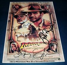 INDIANA JONES : LAST CRUSADE CAST PP SIGNED POSTER 12X8
