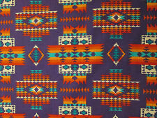 Navajo Indian Multi II Purple Orange Teal  Print Cotton Fabric FQ