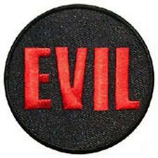 EVIL EMBROIDERED IRON ON PATCH occult goth outlaw biker satan 666 black metal