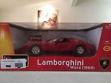 Burago Diamond Collezione 1:18 Scale Diecast 1968 Lamborghini Miura - Red