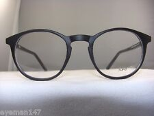 NEW SOHO 123 MATT BLACK ROUND EYEGLASS FRAME
