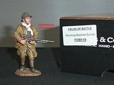 KING AND COUNTRY FOB115 FIELDS OF BATTLE FRENCH MARCHING MACHINE GUNNER FIGURE