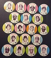 1976 Blank Back Baseball Discs Complete set of 70 cards   20+ HOFers