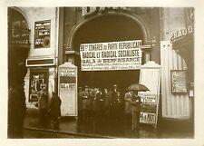 """""""Congrès du Parti Républicain Radical 1931"""" Photo originale G. DEVRED / Agce ROL"""